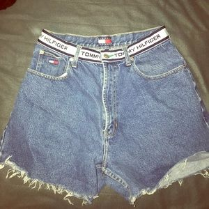 High Waisted Tommy Hilfiger Denim Shorts Size 31